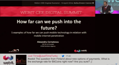 Webit CEE Digital Summit – 2014 – Keynote – How far can we push into the future?